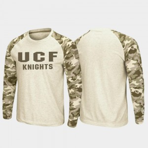 UCF Knights T-Shirt Oatmeal Mens OHT Military Appreciation Raglan Long Sleeve Desert Camo