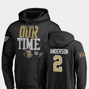 UCF Knights Otis Anderson Hoodie 2019 Fiesta Bowl Bound #2 Black For Men's Counter