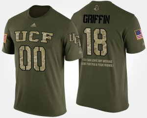 UCF Knights Shaquem Griffin T-Shirt Military Camo Mens Short Sleeve With Message #18