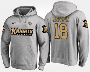 UCF Knights Shaquem Griffin Hoodie #18 For Men Gray