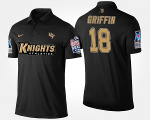 UCF Knights Shaquem Griffin Polo Mens American Athletic Conference Peach Bowl Bowl Game Navy #18