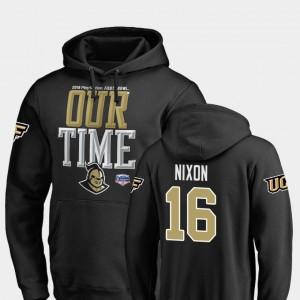 UCF Knights Tre Nixon Hoodie Counter Black Men #16 2019 Fiesta Bowl Bound