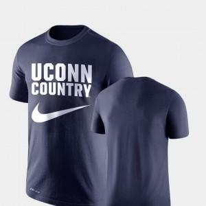 UConn Huskies T-Shirt Navy Men's Performance Legend Franchise
