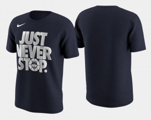UConn Huskies T-Shirt Navy Basketball Tournament Just Never Stop March Madness Selection Sunday For Men