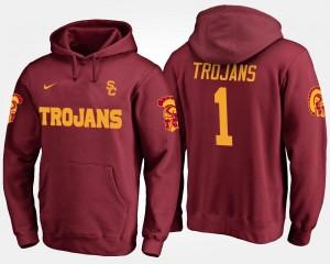 USC Trojans Hoodie #1 No.1 Cardinal Men's