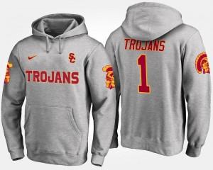 USC Trojans Hoodie For Men No.1 #1 Gray