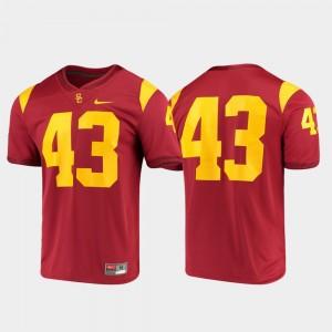 USC Trojans Jersey Mens Game Cardinal #43