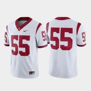 USC Trojans Jersey #55 College Football White For Men's Game