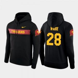 USC Trojans Aca'Cedric Ware Hoodie Sideline Seismic Black Football Performance Mens #28