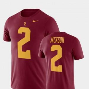 USC Trojans Adoree' Jackson T-Shirt Men College Football Name & Number #2 Cardinal