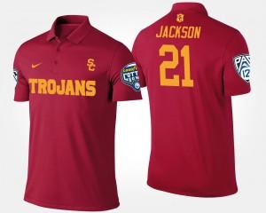 USC Trojans Adoree' Jackson Polo Cardinal #21 Bowl Game Mens Pac-12 Conference Cotton Bowl