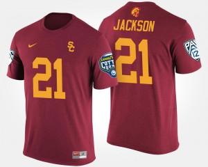 USC Trojans Adoree' Jackson T-Shirt Cardinal Pac-12 Conference Cotton Bowl #21 For Men Bowl Game
