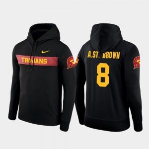 USC Trojans Amon-Ra St. Brown Hoodie #8 Sideline Seismic Football Performance Men's Black