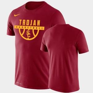 USC Trojans T-Shirt Men's Drop Legend Cardinal Performance Basketball