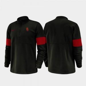USC Trojans Jacket Men's Half-Zip Performance 2019 Coaches Sideline Black