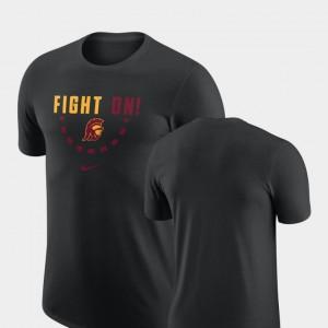 USC Trojans T-Shirt Black For Men's Basketball Team