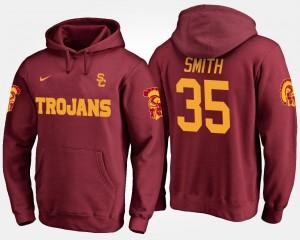 USC Trojans Cameron Smith Hoodie Cardinal #35 For Men