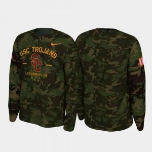USC Trojans T-Shirt Camo Legend Long Sleeve For Men 2019 Veterans Day