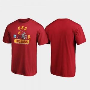 USC Trojans T-Shirt Spike Men's 2019 Holiday Bowl Bound Cardinal