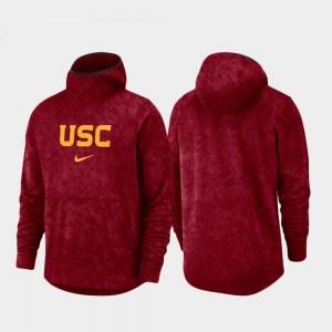 USC Trojans Hoodie Men's Cardinal Spotlight Basketball Team Logo Pullover