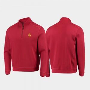 USC Trojans Jacket Men's Cardinal College Sport Nassau Half-Zip Pullover Tommy Bahama