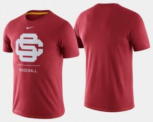 USC Trojans T-Shirt College Baseball Men's Dugout Performance Cardinal