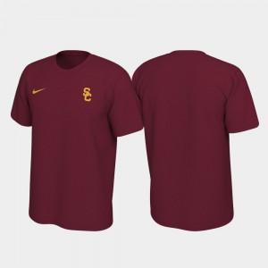 USC Trojans T-Shirt Legend Left Chest Logo Cardinal Men's
