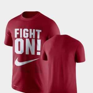 USC Trojans T-Shirt Mens Cardinal Performance Legend Franchise
