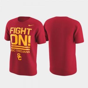 USC Trojans T-Shirt Mens Performance Cardinal Local Verbiage