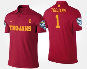 USC Trojans Polo For Men Bowl Game No.1 Pac-12 Conference Cotton Bowl #1 Cardinal