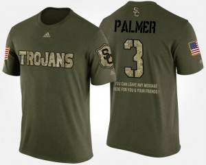 USC Trojans Carson Palmer T-Shirt Camo Mens #3 Short Sleeve With Message Military