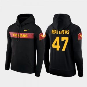 USC Trojans Clay Matthews Hoodie Sideline Seismic Men Black #47 Football Performance