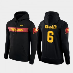 USC Trojans Cody Kessler Hoodie #6 Men's Black Football Performance Sideline Seismic