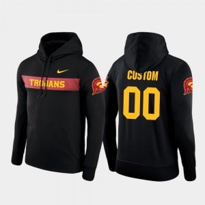 USC Trojans Custom Hoodies Black #00 Football Performance Sideline Seismic Men's
