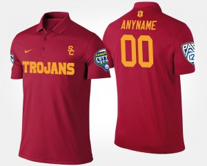 USC Trojans Customized Polo #00 Pac-12 Conference Cotton Bowl Cardinal Men's Bowl Game
