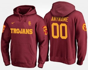 USC Trojans Customized Hoodie Cardinal #00 Men's