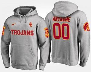 USC Trojans Custom Hoodies Mens #00 Gray