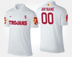 USC Trojans Custom Polo For Men's #00 White