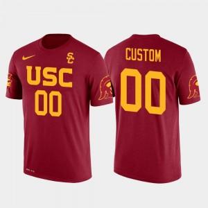 USC Trojans Custom T-Shirts Mens #00 Future Stars Cotton Football Red
