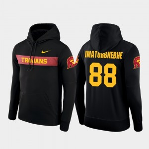 USC Trojans Daniel Imatorbhebhe Hoodie Sideline Seismic For Men's #88 Football Performance Black
