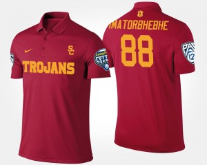USC Trojans Daniel Imatorbhebhe Polo Bowl Game #88 Cardinal Pac-12 Conference Cotton Bowl Mens