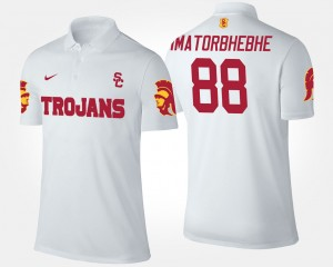 USC Trojans Daniel Imatorbhebhe Polo For Men #88 White