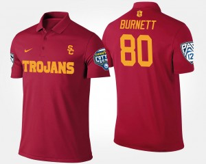 USC Trojans Deontay Burnett Polo Men #80 Cardinal Bowl Game Pac-12 Conference Cotton Bowl