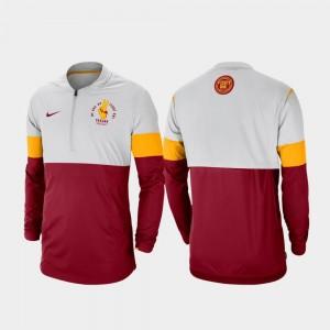 USC Trojans Jacket Rivalry Football Half-Zip Gray Cardinal Mens