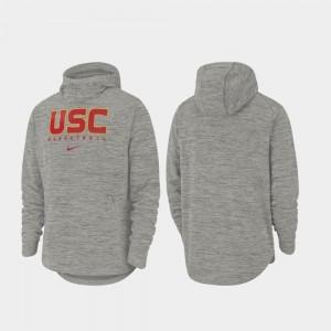 USC Trojans Hoodie Heathered Gray Basketball Spotlight Mens