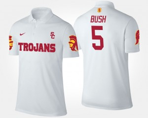 USC Trojans Reggie Bush Polo Men's #5 White