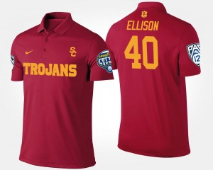 USC Trojans Rhett Ellison Polo Cardinal #40 Men's Pac-12 Conference Cotton Bowl Bowl Game