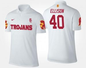 USC Trojans Rhett Ellison Polo #40 White Men
