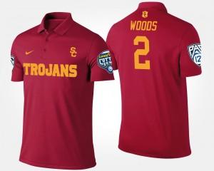 USC Trojans Robert Woods Polo Pac-12 Conference Cotton Bowl Cardinal Men's #2 Bowl Game