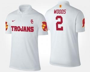 USC Trojans Robert Woods Polo #2 Men's White